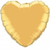 Heart 18inch Metallic Gold Foil Balloon