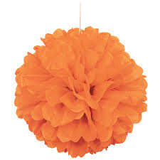 Orange Puff Decor 16IN