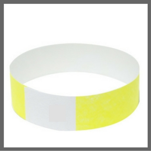 Yellow Tyvek Wristband