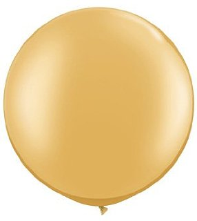 Giant Round Latex Balloon Gold