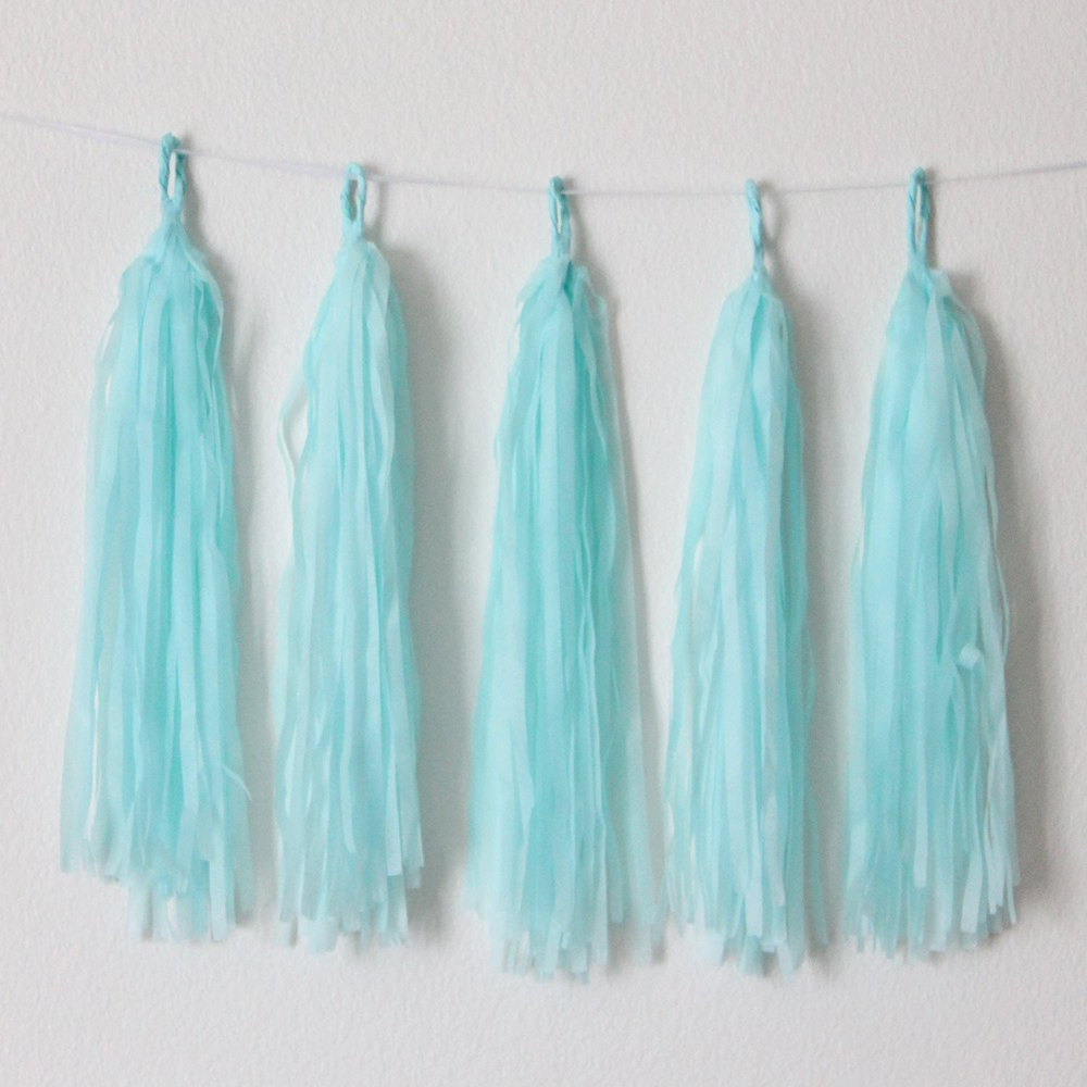 TPS DIY Paper Tassels Light Blue